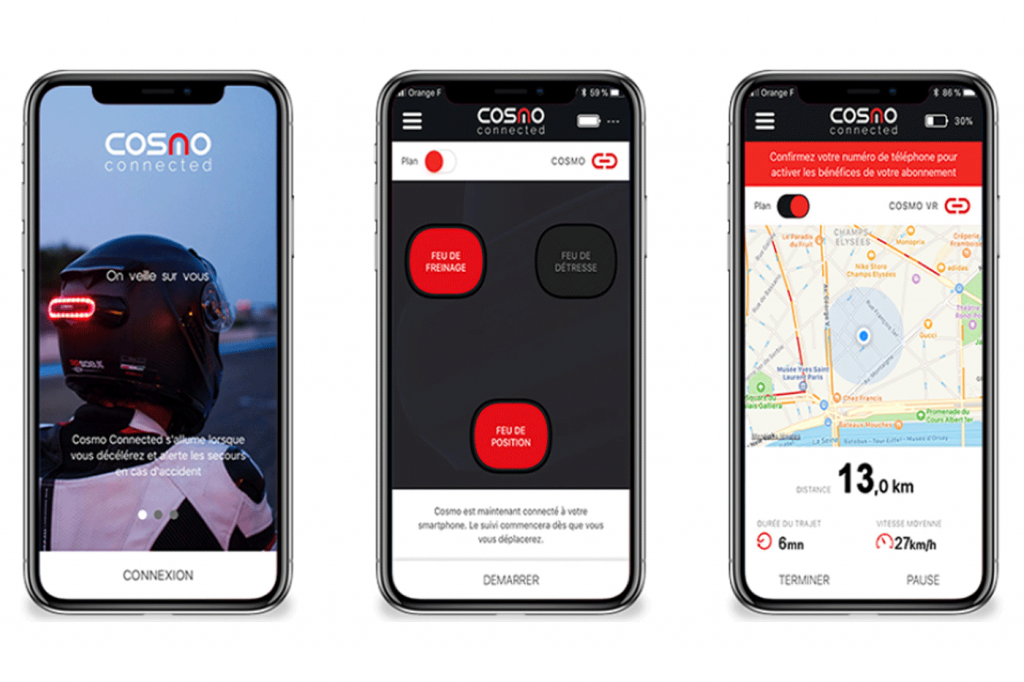 Cosmo Connect luz de emergência